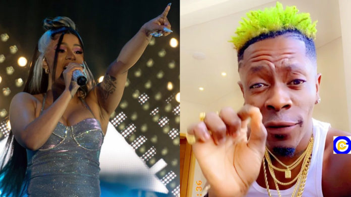 Cardi-B-reacts-after-Shatta-Wale-shared-a-video-of-fan-dancing-to-his-Borjor--song