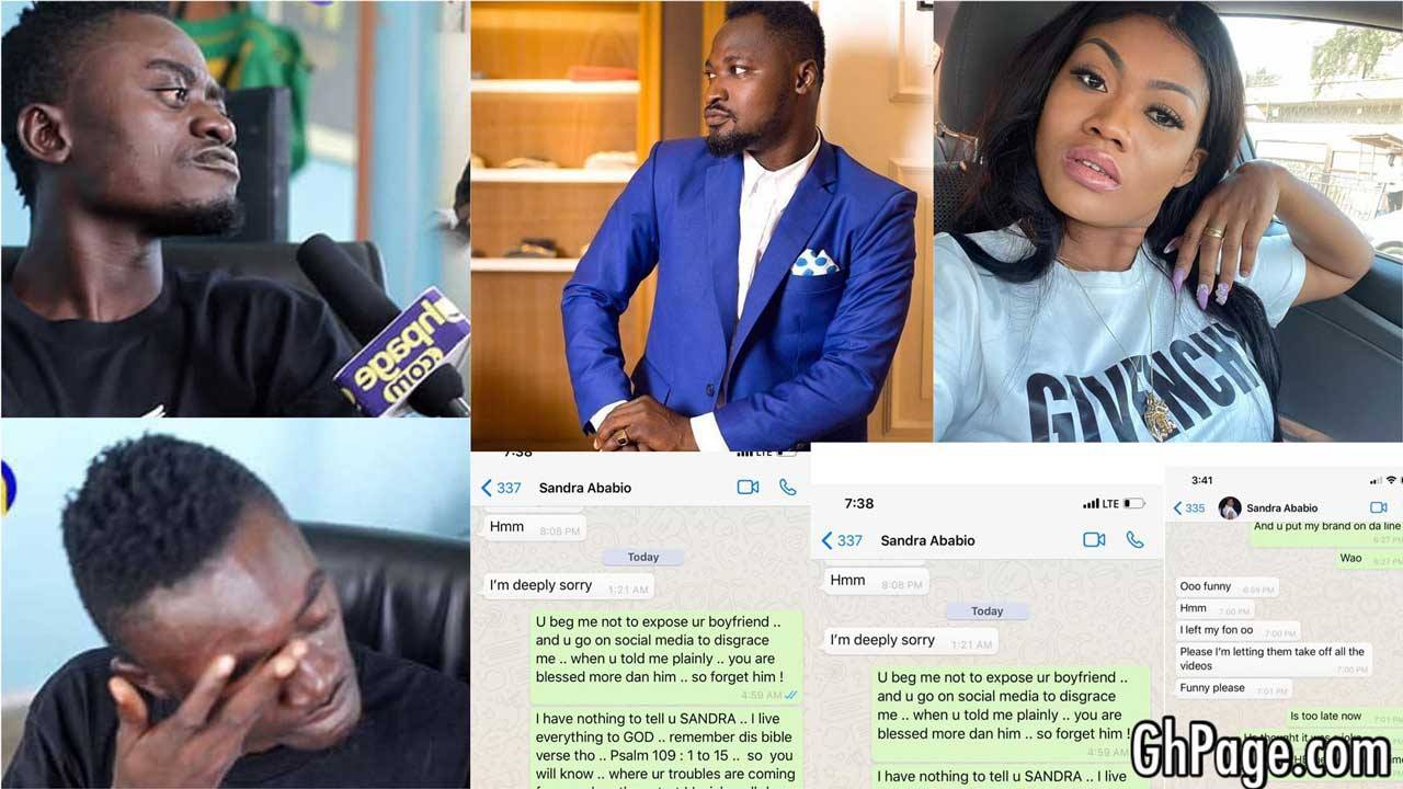 Lilwin and girlfriend beg Funny Face; chats, voice note leak