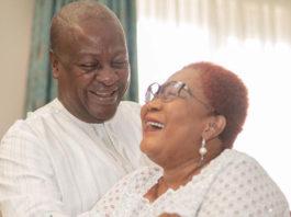 John Mahama and wife, Lordina Mahama
