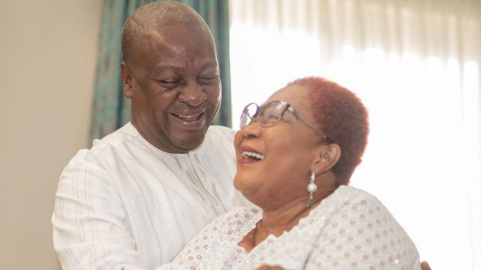 John Mahama and wife, Lordina Mahama