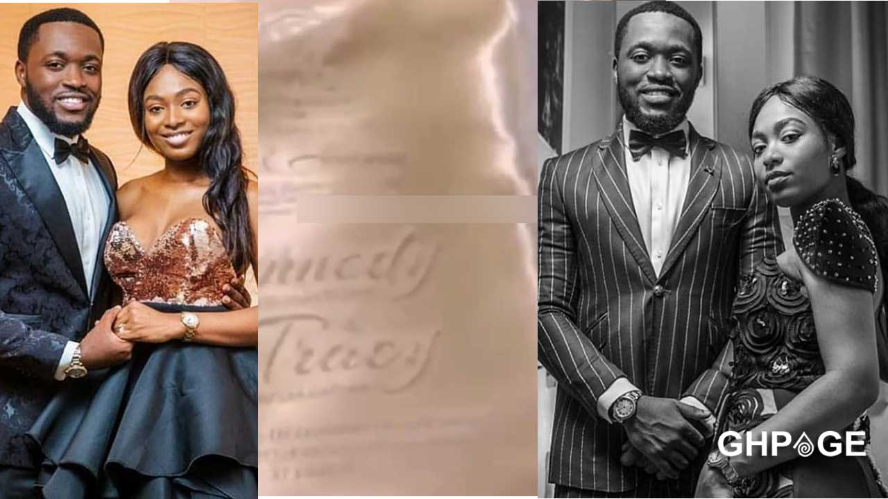 Check out the wedding invitation of Kennedy Osei and Tracey Ameyaw (VIDEO)