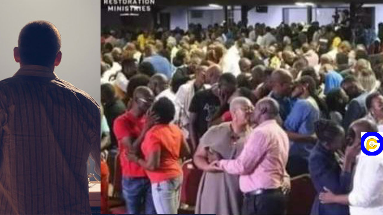 Pastor orders church members to randomly kiss each other during church service