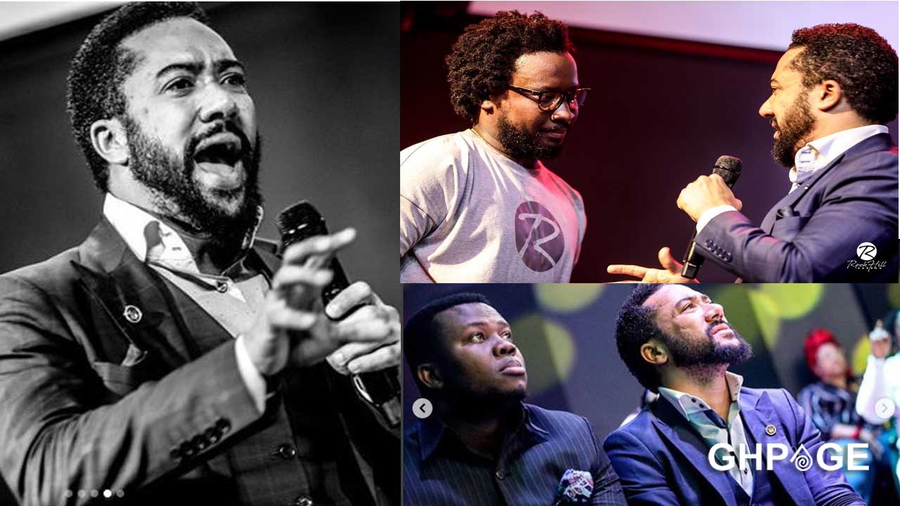 Majid Michel storms Sonnie Badu's church to deliver a message from God(Photos)