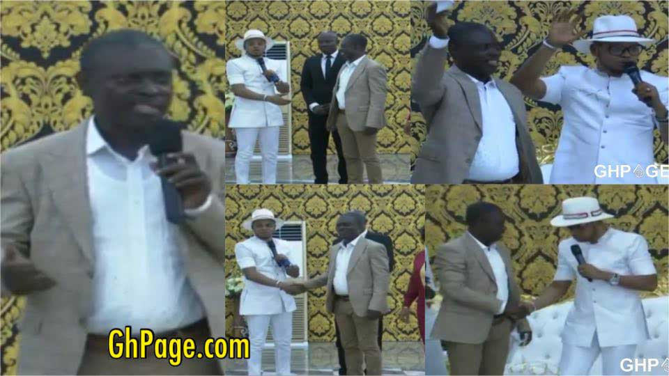 Osofo Kyiri Abosom storms Angel Obinim church to campaign for votes