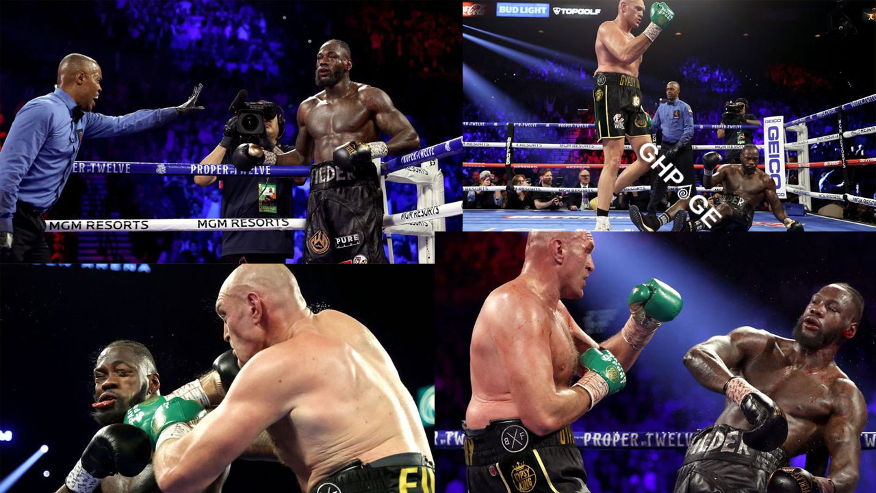 Tyson Fury knocks down Deontay Wilder twice; stops Wilder in round 7 to take his world title