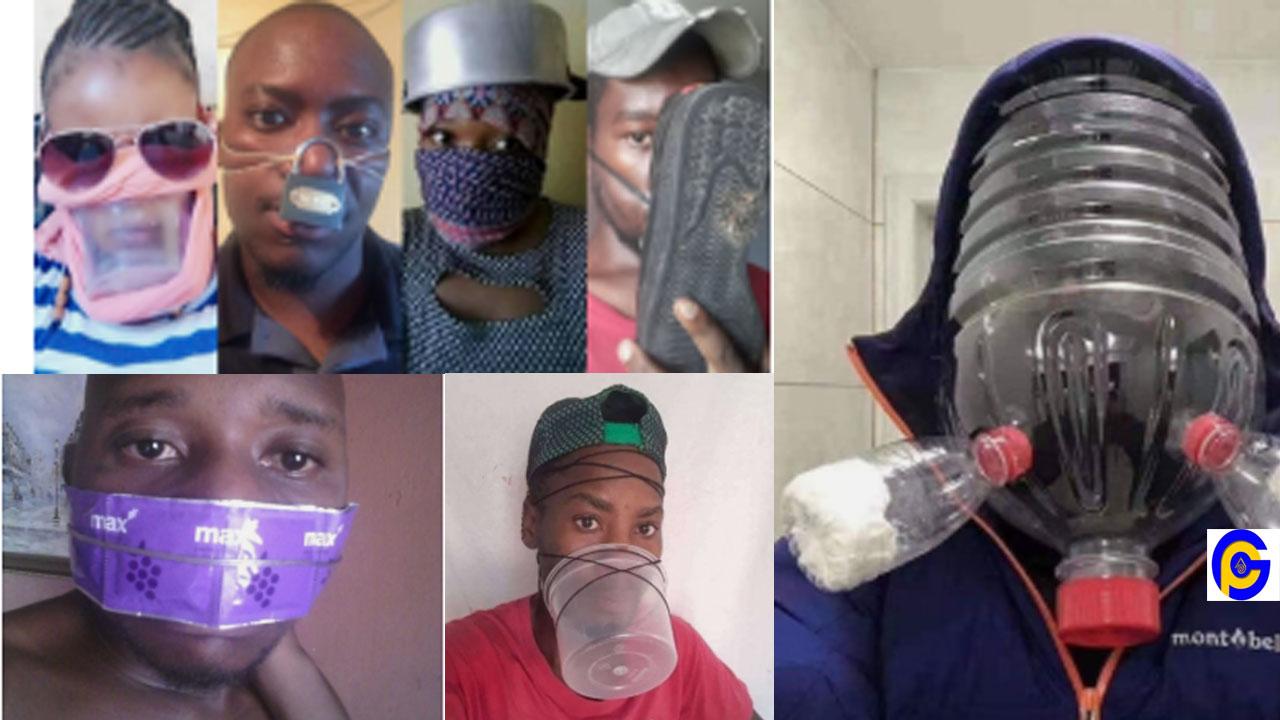 Coronavirus challenge hits online; some Ghanaians share hilarious photos