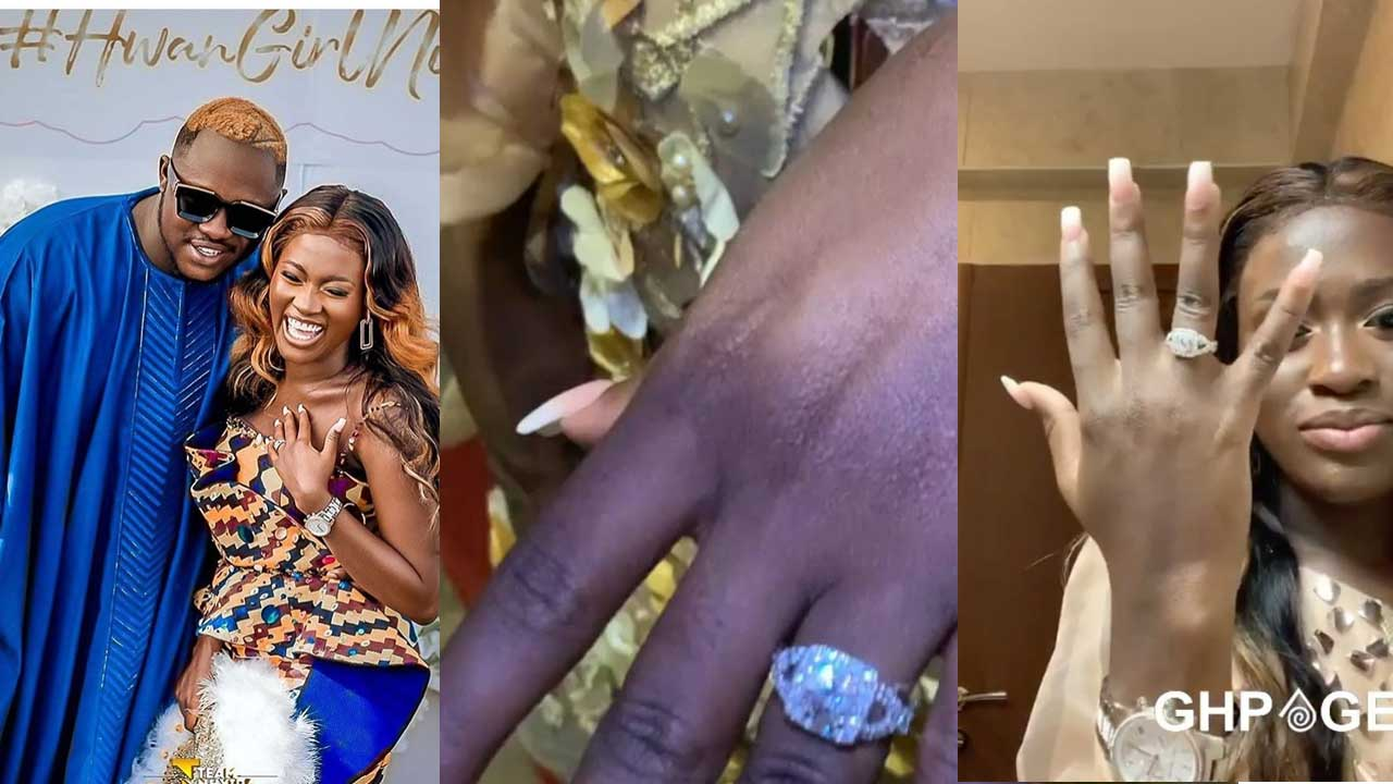 Fella Makafui shows off her expensive diamond engagement ring (VIDEO)