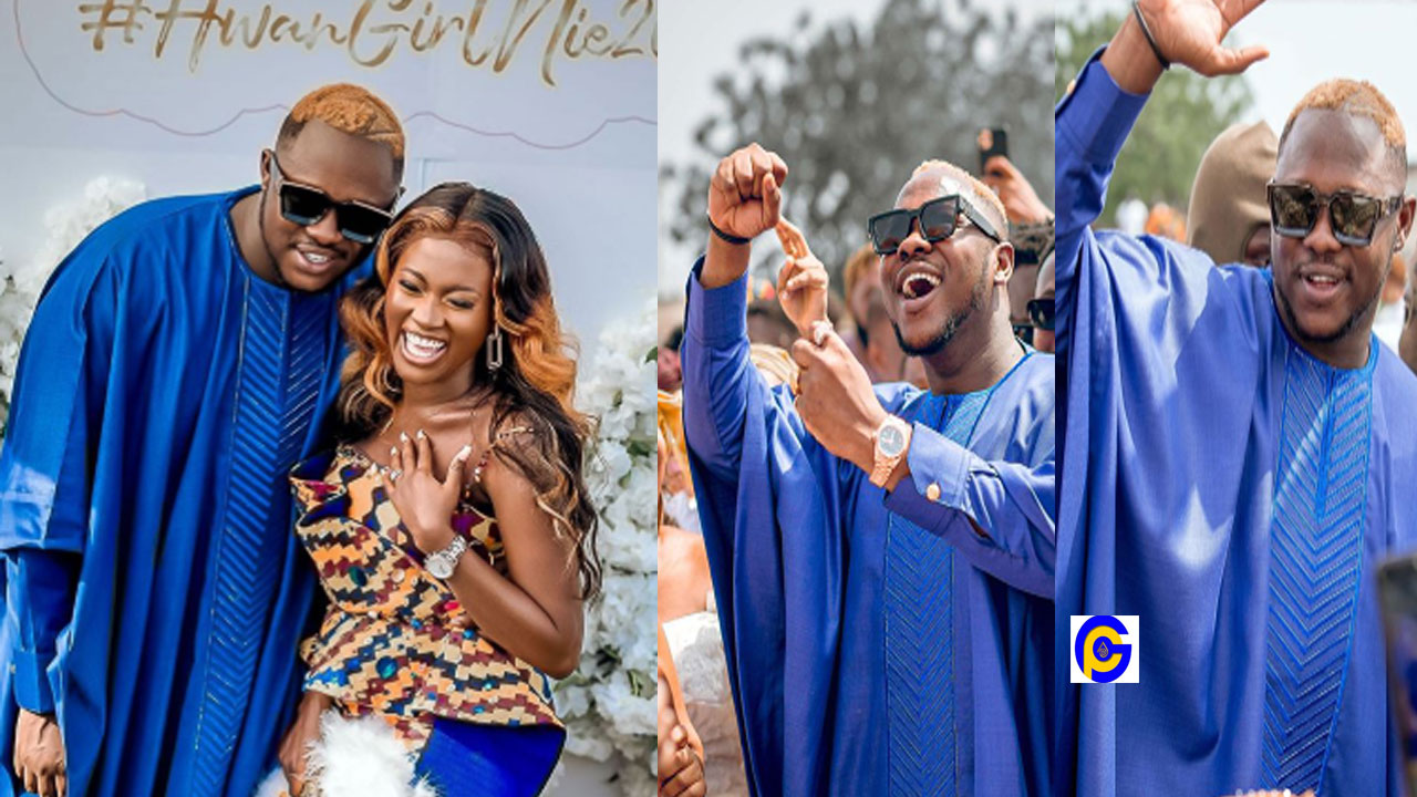 Video of the grand entry and arrival of Medikal & his groomsmen at his traditional wedding