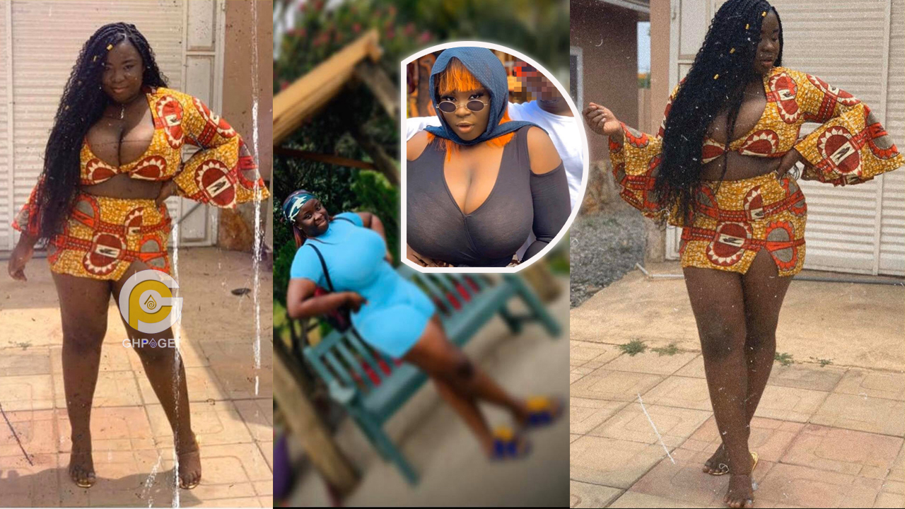 Maame Serwaa puts her raw uncovered boobs on display in new photos