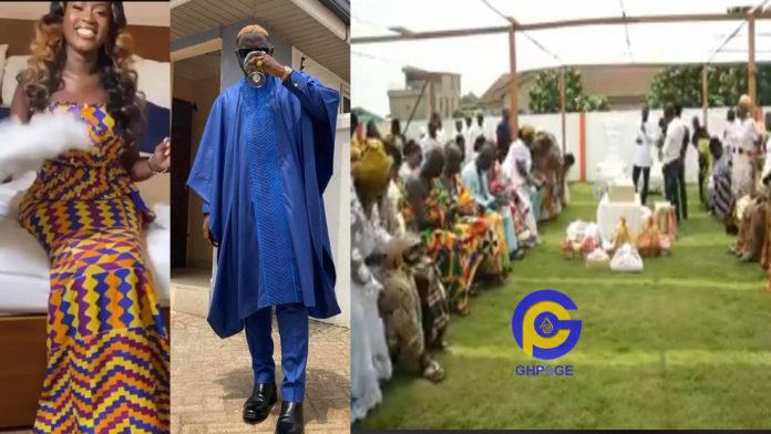 Fella Makafui and Medikal's wedding