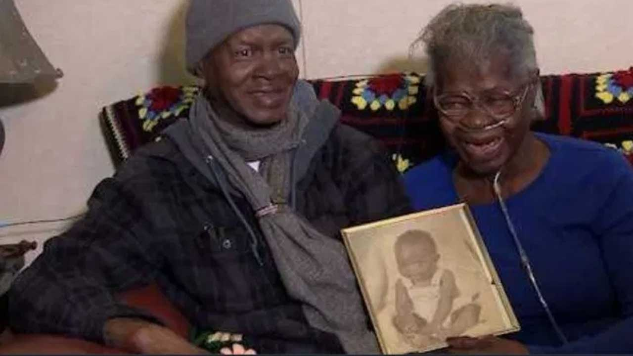 Woman sheds tears of joy after seeing her kidnapped child for the first time in 55 years