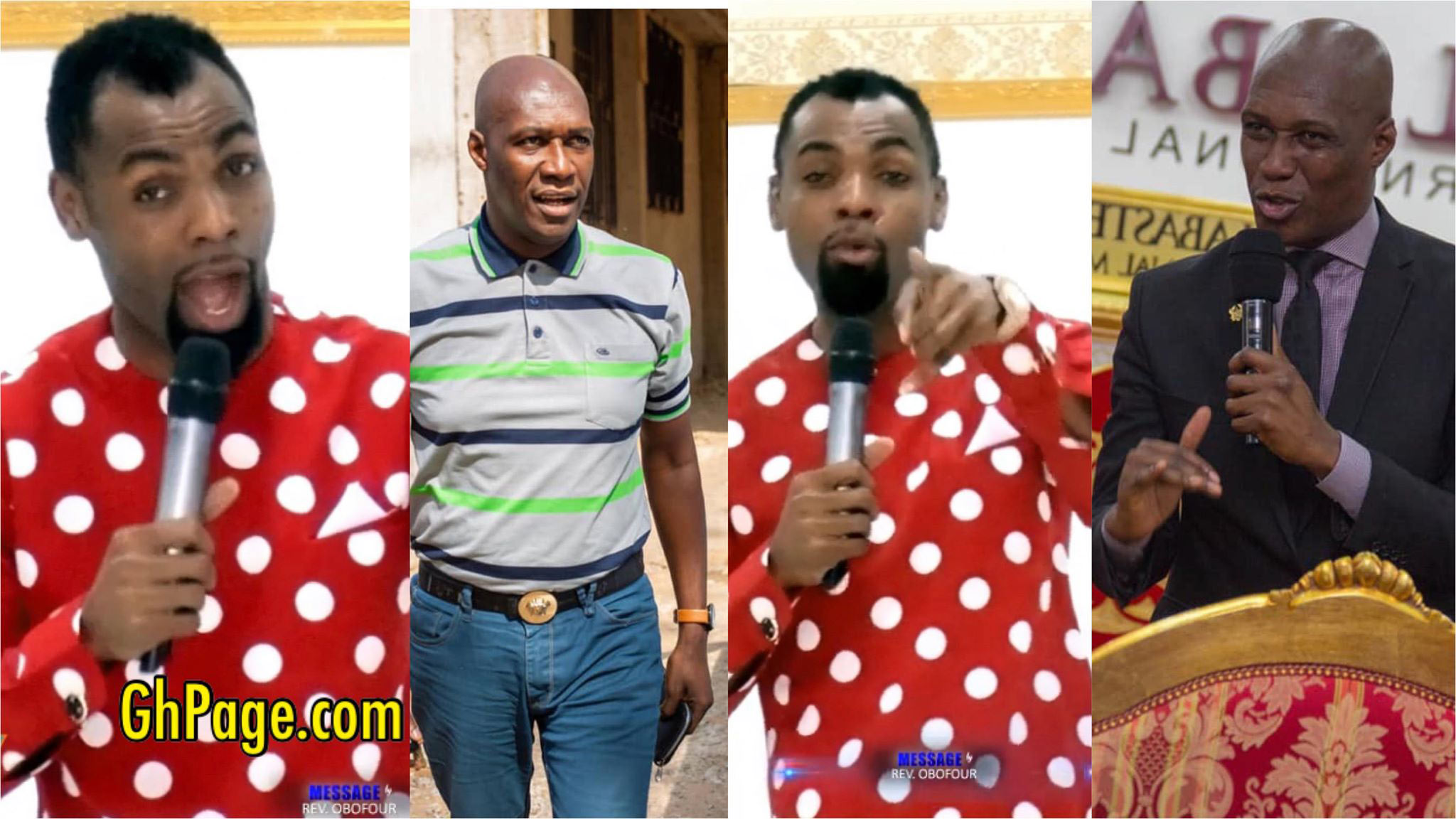 """Gay, dog, senseless cow; don't try me again""- Rev. Obofour insults Prophet Oduro"