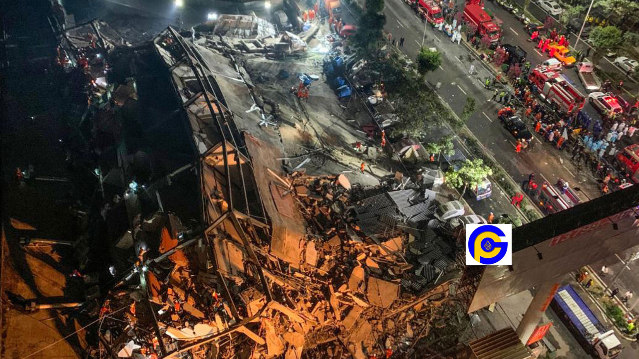 Over 70 people trapped as the building used for quarantine collapses in China