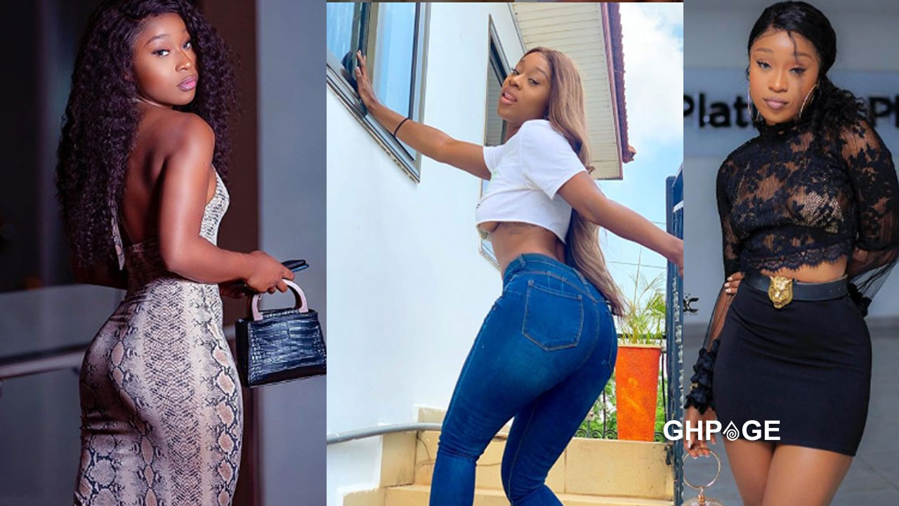 Efia Odo puts her raw boobs on display in a live video