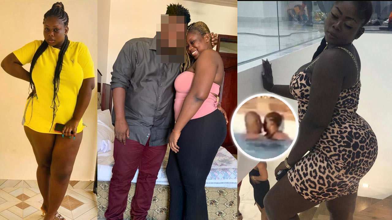 Ama Coke reacts to being 'chopped' in a swimming pool by a married man