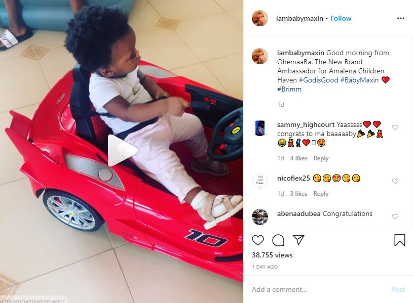 Baby Maxin becomes brand ambassador for a clothing company ...