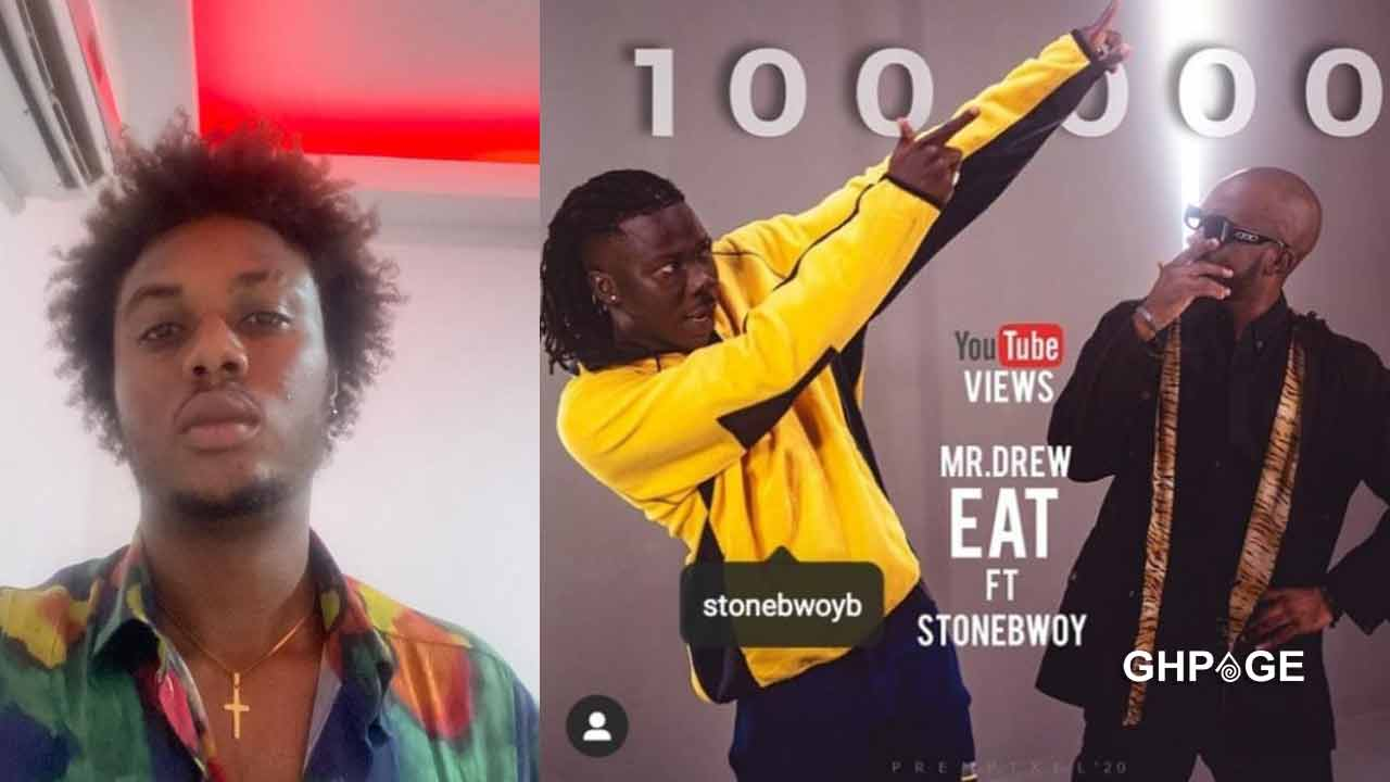 """Revealed: Ghanaian artiste reported Mr Drew's """"Eat"""" featuring Stonebwoy to Rotimi"""
