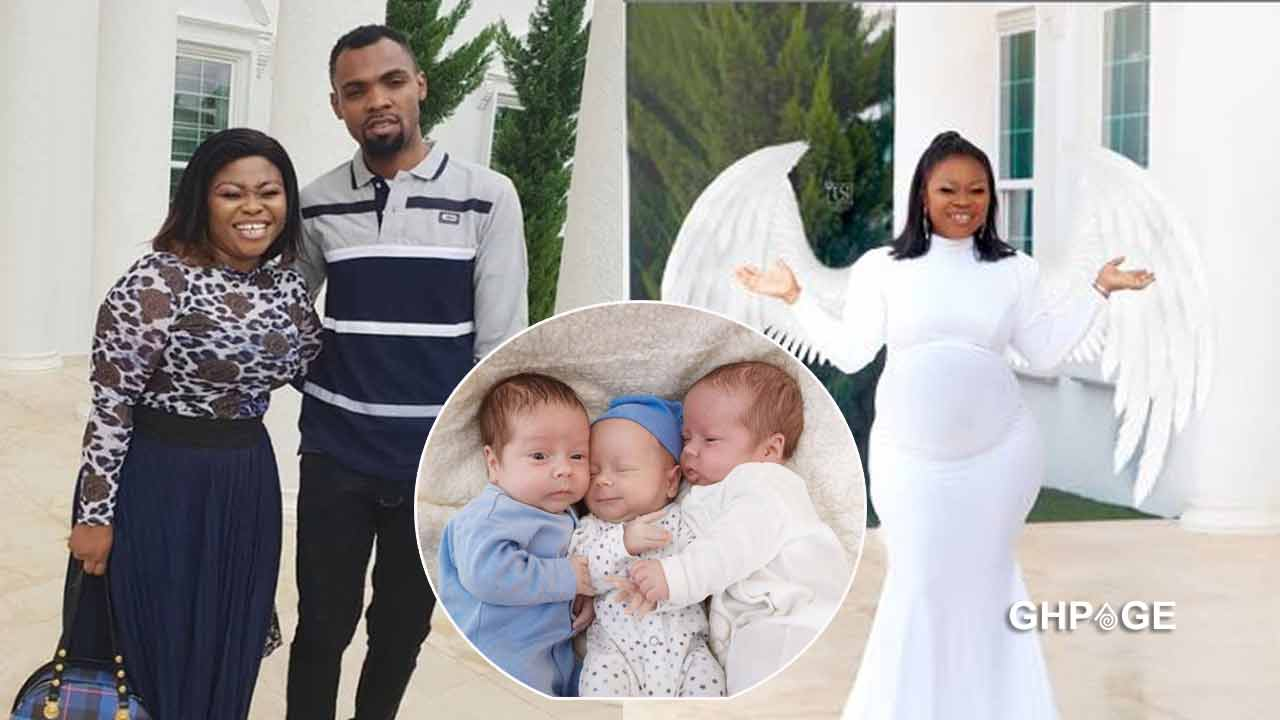 Rev Obofour calls wife on phone to celebrate triplets