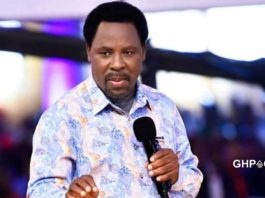 T.B Joshua returns from the mountain with a message from God