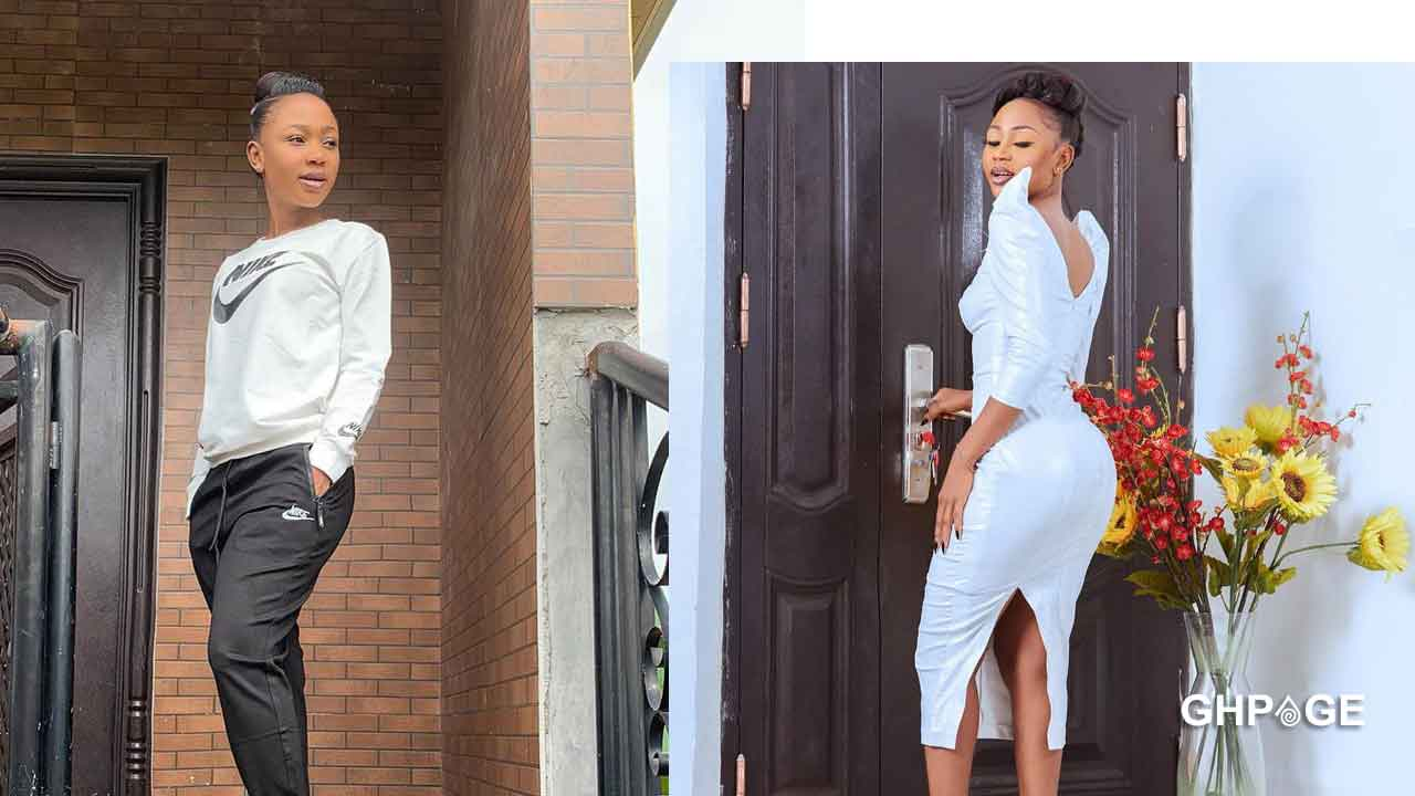 Akuapem Poloo goes naked with son on social media to celebrate his b-day – Netizens react