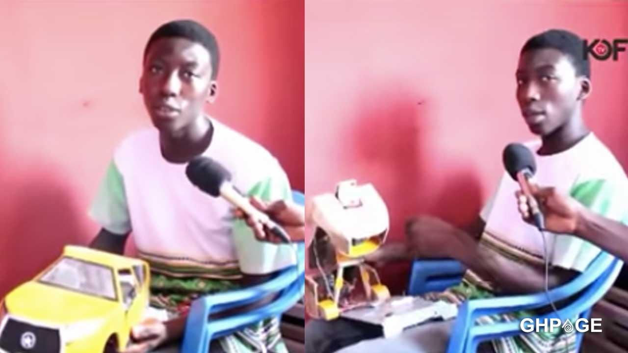 Student builds Kantanka Bugatti, VVIP bus with scraps (VIDEO)