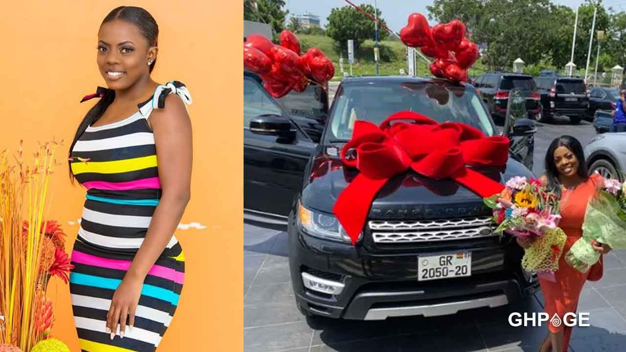Nana-Aba-Anamoah-finally-reveals-person-who-gifted-her-Range-Rover-car-with-fake-plate