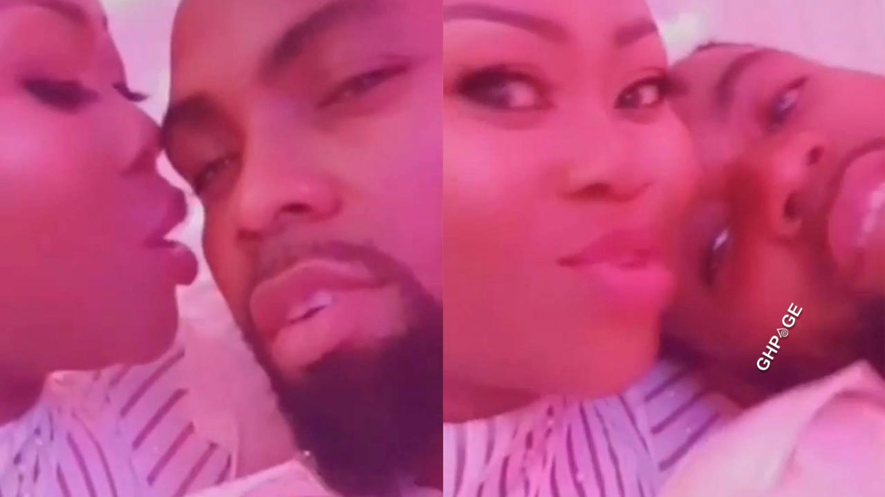 Lovely video of Obofour and wife Queen Ciara chopping love goes viral