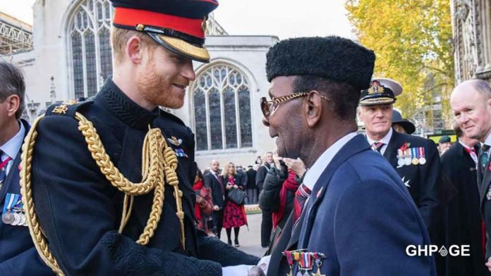 Prince-Harry-honors-Ghanaian-WWII-old-soldier-who-walked-14-miles-to-raise-COVID-19-funds