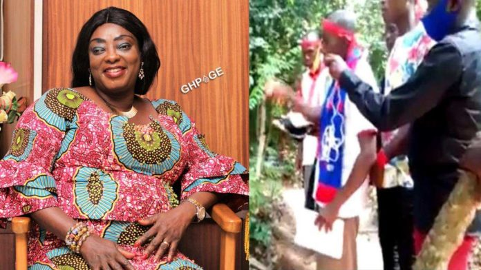 Tano North NPP members curse Freda Prempeh over NPP Primaries