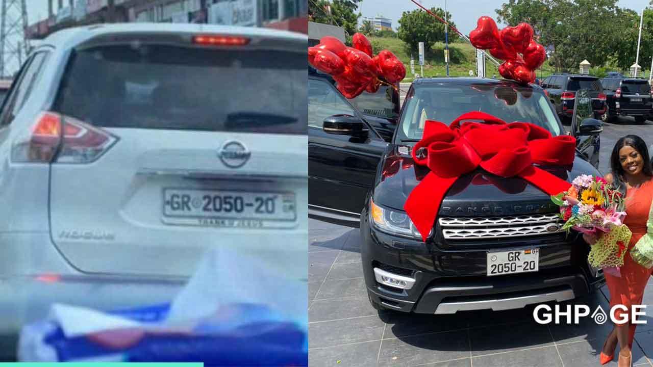 Nana Aba fake Range Rover gift