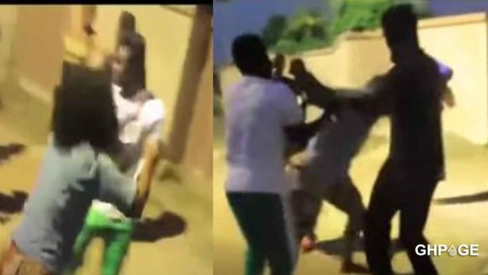 Kumawood-actresses-and-actors-engage-in-a-serious-fight-on-set