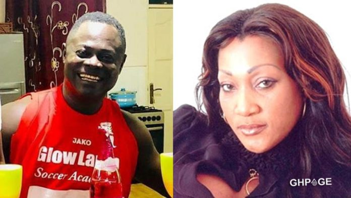 Odartey Lamptey and ex wife, Gloria Appiah