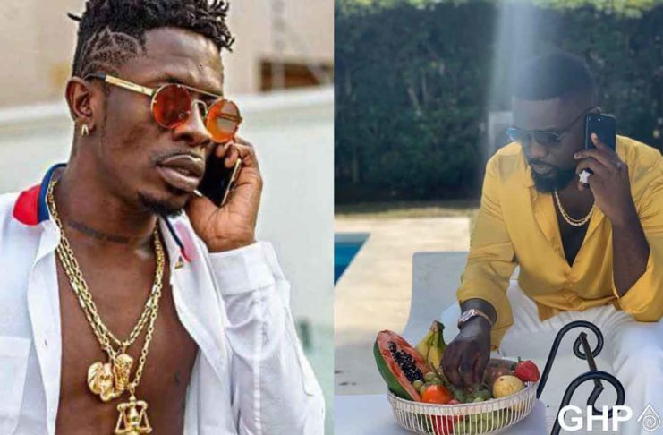 Sarkodie-and-Shatta-Wale-in-a-phone-conversation;finally-makes-peace-on-his-birthday
