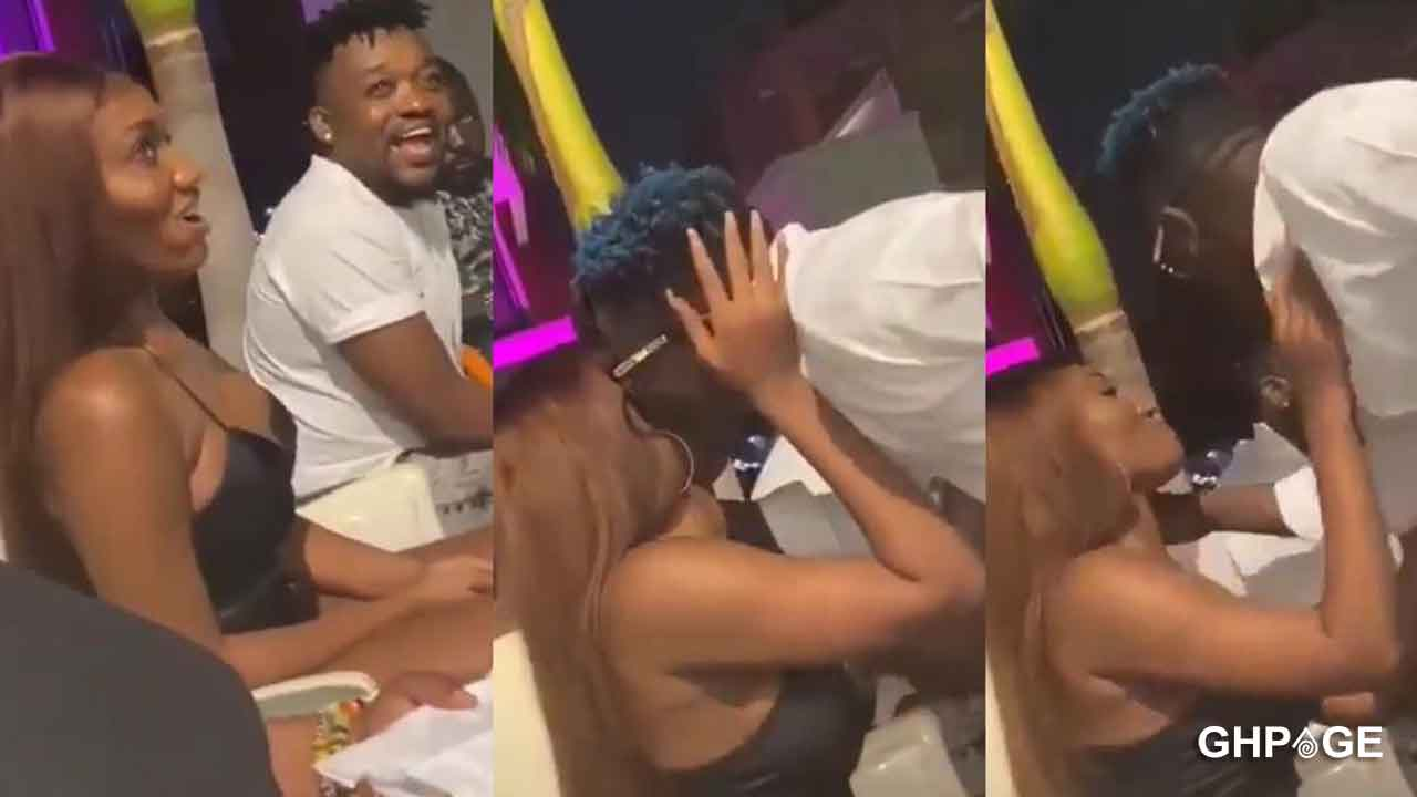 Shatta Wale and Wendy Shay captured on camera kissing