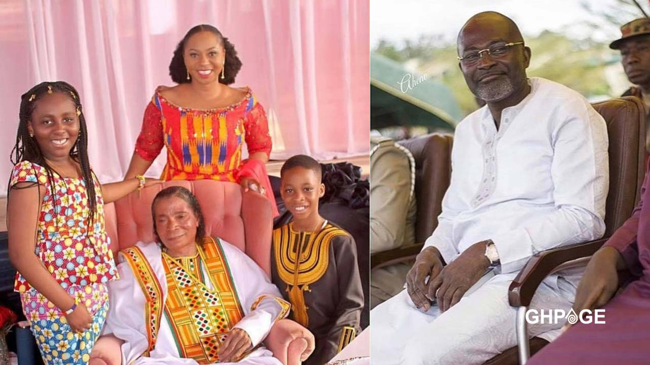 Adwoa Safo finally shows the faces of her children with Kennedy Agyapong
