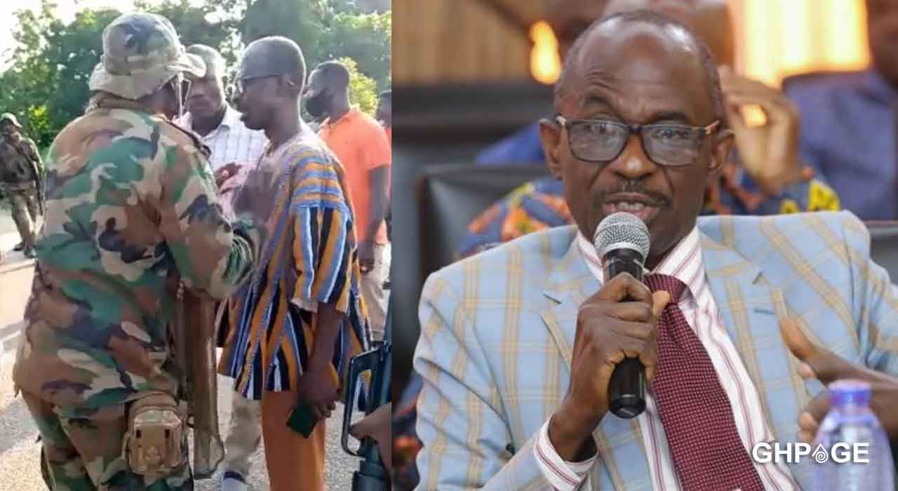 Asiedu Nketia confronts military men allegedly disrupting Voter ID registration people at Banda