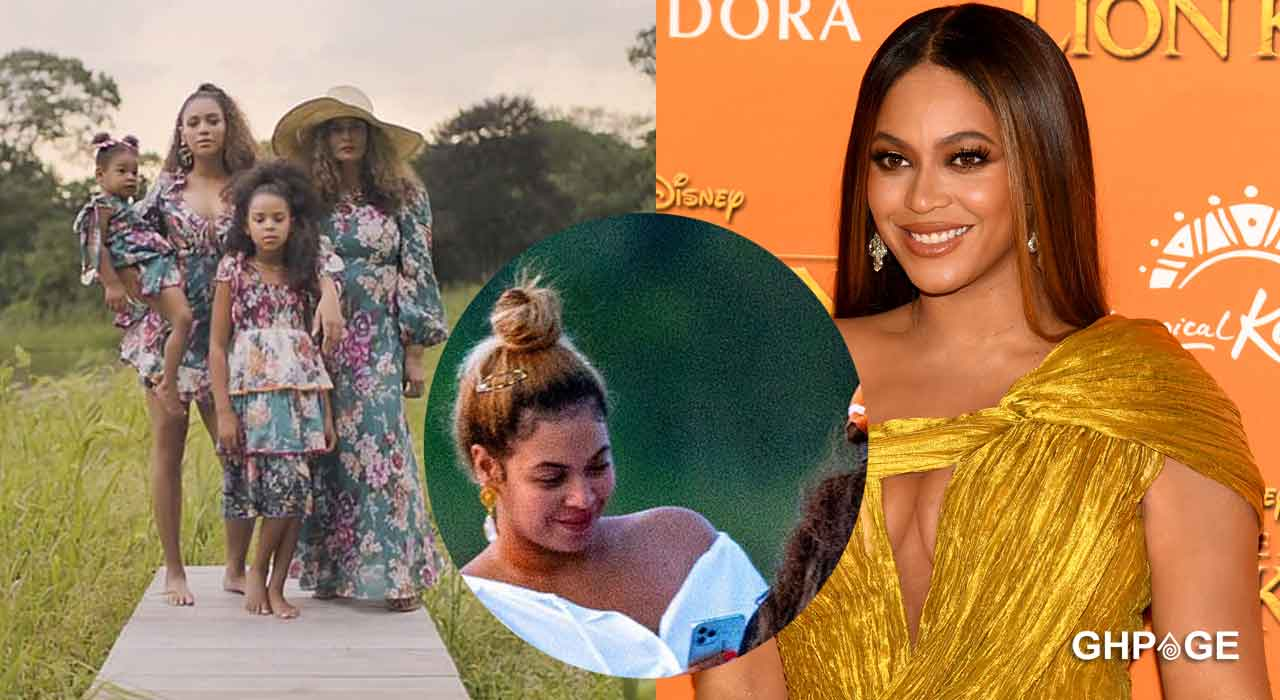 Beyoncé pictured with family and friends on a speedboat ride