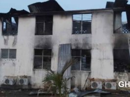 Electoral Commission office burns