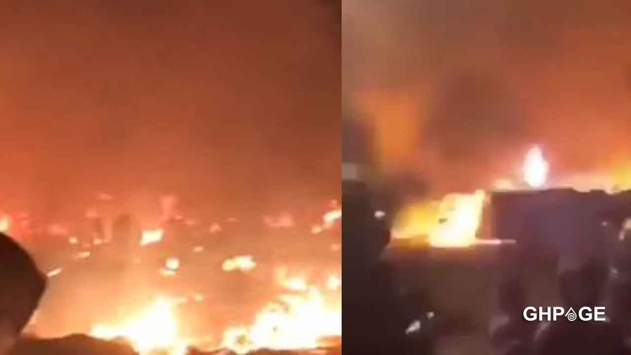Parts of Shiashie raged down by fire; Over 100's of properties destroyed