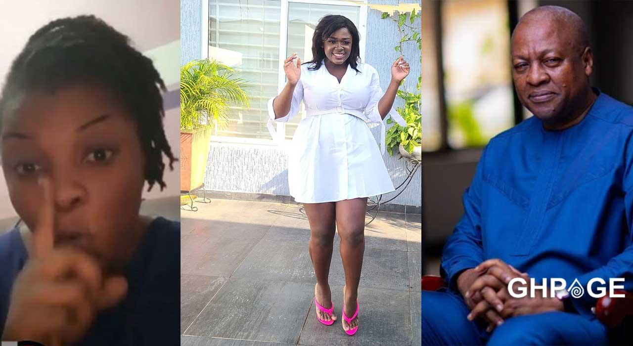 Gloria Kani names Mahama as Tracey Boakye's baby daddy