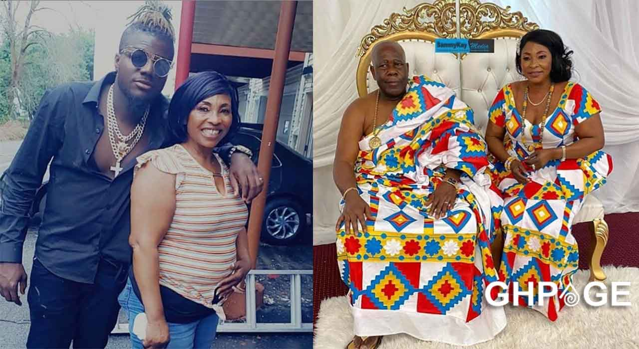 Kyeiwaa spotted chilling with Pope Skinny in the US after wedding