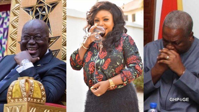Nana Addo, Afia Schwarzenegger and John Mahama