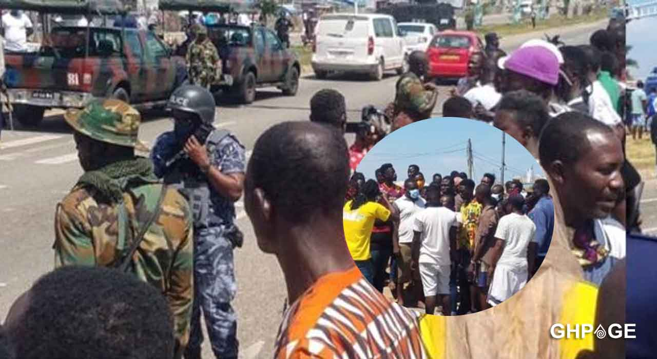 Residents of Awoshie crash with Police and Military after protest over faulty traffic lights