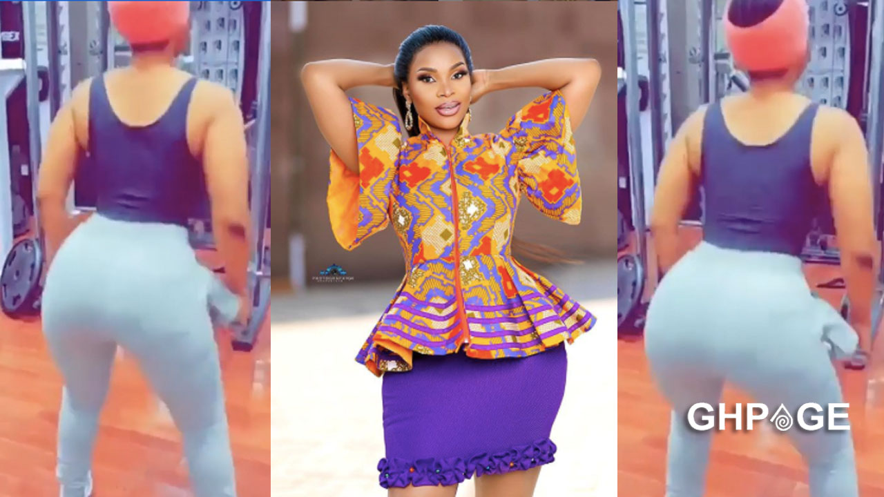 Benedicta Gafah hits the gym with hip pad – Netizens reacts