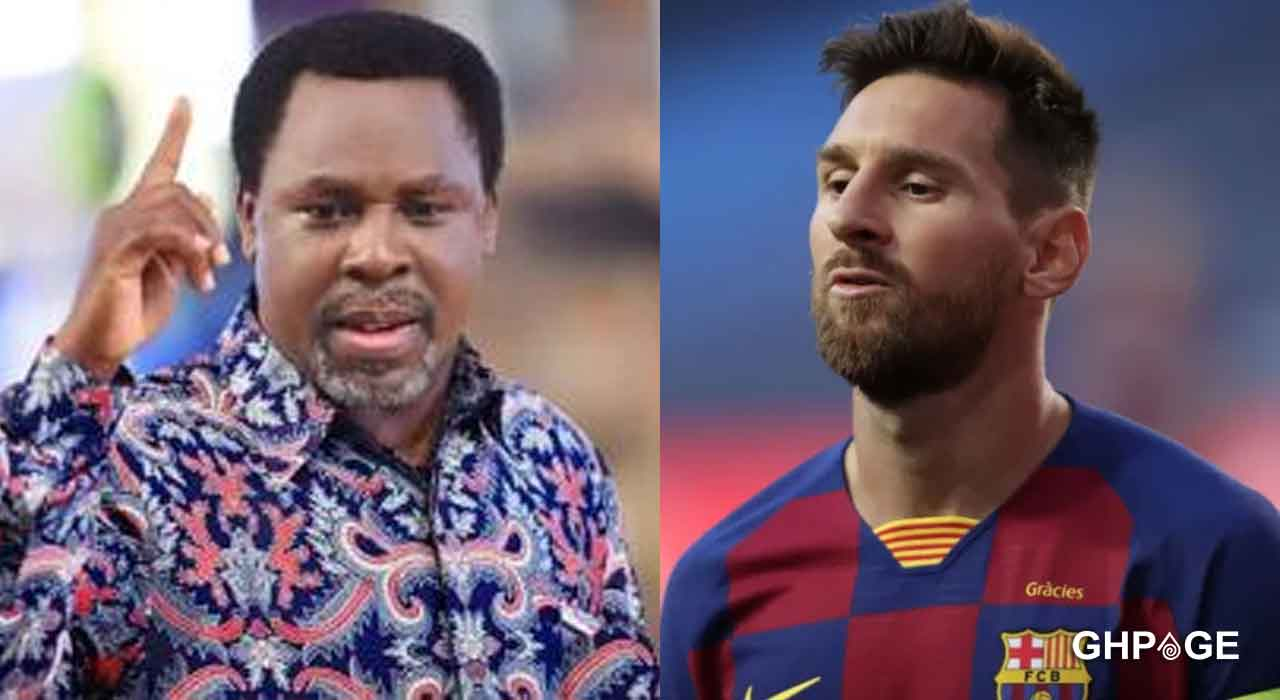 Do not leave Barcelona bitter and offended-TB Joshua to Lionel Messi