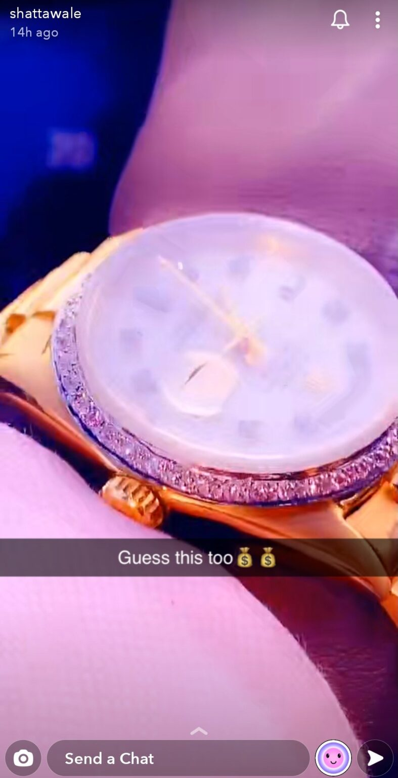 Shatta Wale Rolex watch