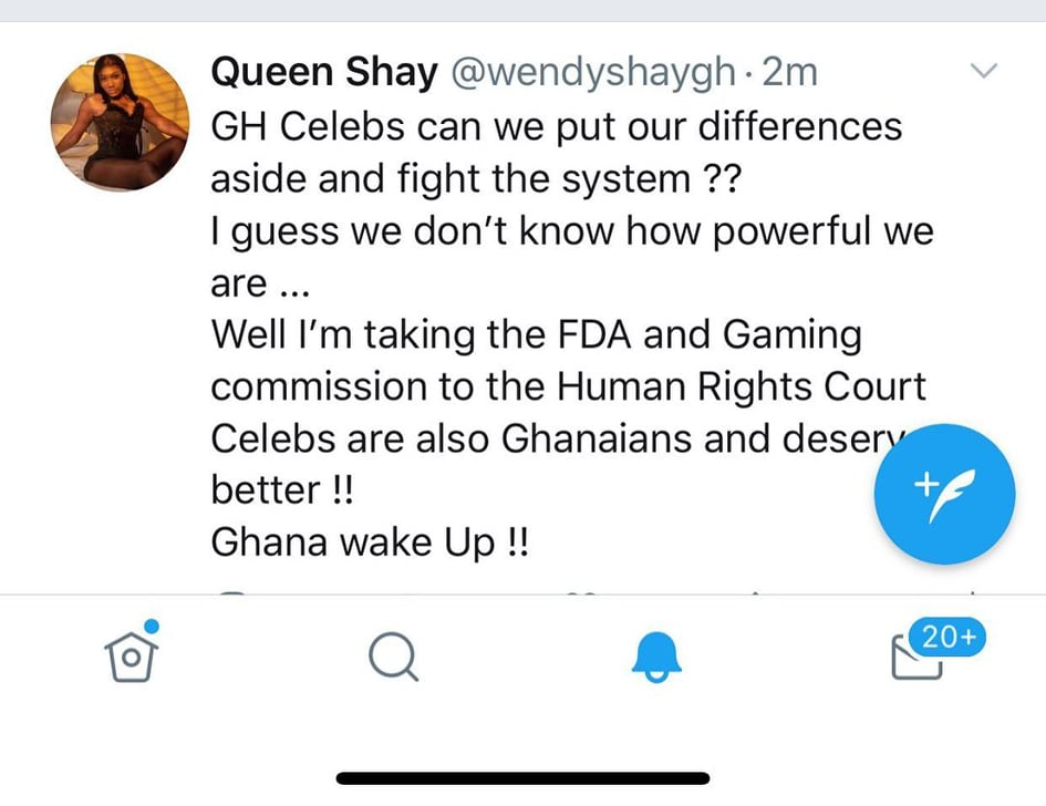 Wendy Shay tweet