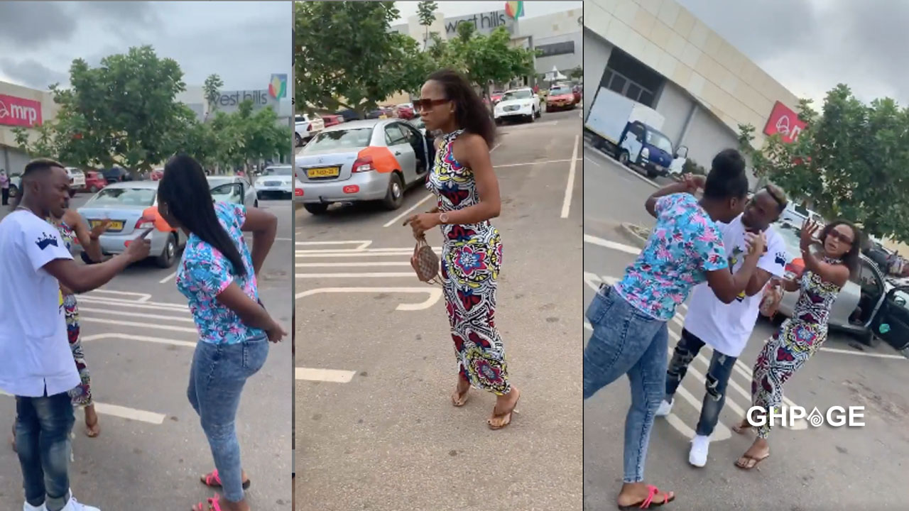 Lady fights Akuapem Poloo in public for allegedly snatching her husband