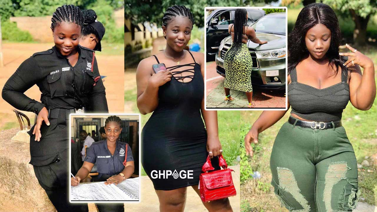 Photos of Ama Serwaa, the trending Ghanaian police officer tagged as the most beautiful policewoman