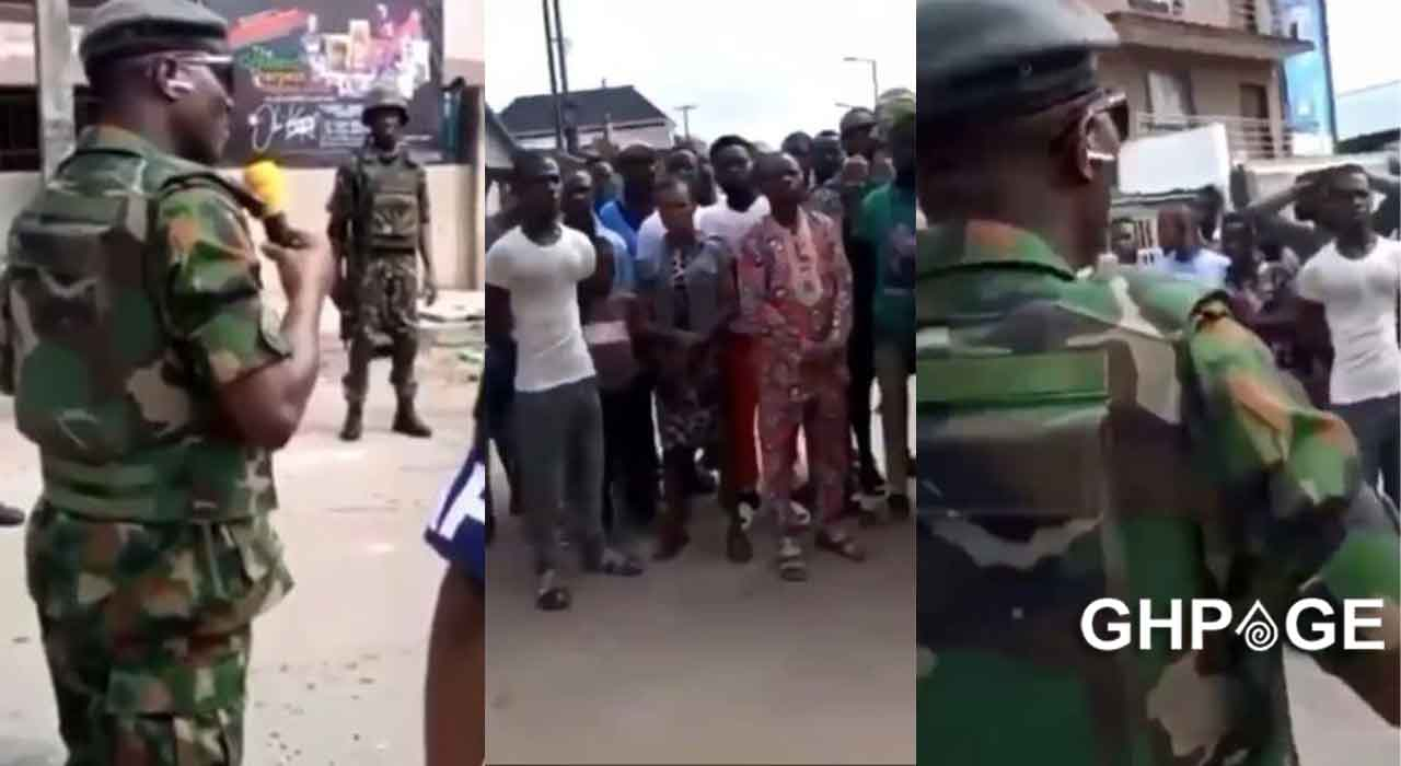Nigerian soldier begs angry ENDSARS protesters to obey curfew in new video
